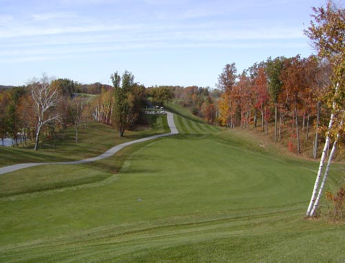 View down an Autumn Ridge fairway